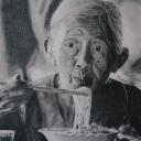 Portraits au crayon gris